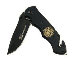 Nóż składany ratowniczy Kandar Black